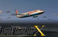 Splash Screen showing America West jet in flight.