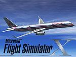 Splash Screen showing 757 in flight.
