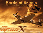 Splash Screen showing Battle of Britain Memorial Flight and a lone Spitfire.