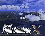 Splash Screen showing Beechcraft Duke over the Italian Alps in the afternoon.