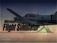 Splash Screen featuring Carenado Beechcraft King Air C90.