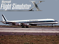 Splash Screen showing Eastern Airlines Douglas DC-8 on runway.