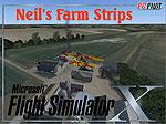 Splash Screen showing Neil's Farm Strip.