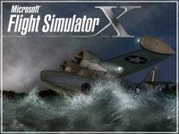 Splash Screen showing Grumman Goose G21A on rough waters.