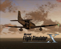Splash Screen showing P-51 Mustang in flight.