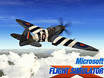 Splash Screen featuring a Spitfire in flight.