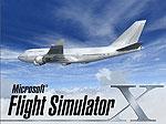 Splash Screen showing a white 747-400 in flight.