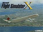 Splash Screen showing Canada Air Jetliner in flight.
