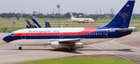 Image of Sriwijaya Air Boeing 737-200 taxxing to runway.