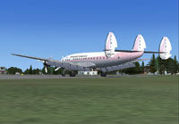 Screenshot of Standard Airways Lockheed Constellation on the ground.