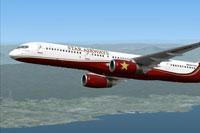 Screenshot of Star Airways Livery Boeing 757-200 in flight.