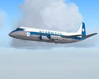 Screenshot of Starways Viscount 708 in flight.