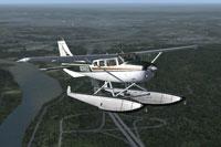 Screenshot of Stationair Amphib in flight.