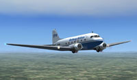 Screenshot of Stellweg Airlines Douglas DC-3 in flight.