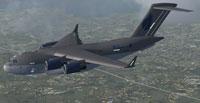 Screenshot of Stobart Air Boeing C-17 in flight.