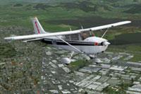 Screenshot of Sunair Cessna 172 ZK-DHN in flight.