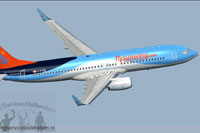 Screenshot of Sunwing Airlines C-FTZD Boeing 737-800W.