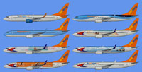Image showing ten liveries of the Sunwing Airlines W15 fleet.