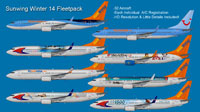 Image showing eight liveries contained within this package.