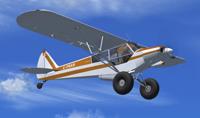 Screenshot of Super Cub Extreme2 in flight.