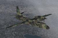 Screenshot of Swedish Air Force Antonov An-32 in flight.