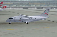 SwissJet Dornier 328 on the ground in Zurich.