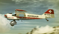 Screenshot of Swissair Dornier Do 28 A in flight.