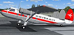 Screenshot of Swissair Scottish Twin Pioneer on runway.