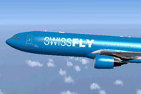 Screenshot of Swissfly Virtual Airways Airbus A330-300 in flight.