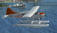 Screenshot of Sydney Seaplanes DeHavilland Beaver in flight.