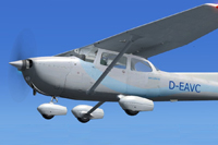 Screenshot of Syltair Cessna 172 in flight.