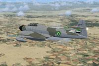 Screenshot of Syrian Meteor NF11 in flight.