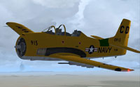 Screenshot of T-28 Texan in flight.