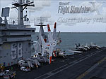Splash Screen showing T-45 flying low over a carrier.