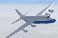 Screenshot of T01 Passenger And Cargo Jet in flight.