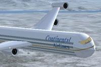 Screenshot of Continental Airlines Jetliner in flight.
