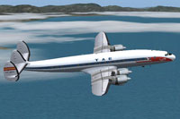 Screenshot of TAE Lockheed L-1049C Constellation in flight.