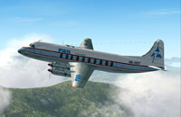 Screenshot of TAO Vickers Viscount 700 in flight.