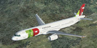 Screenshot of TAP Air Portugal Airbus A321 in flight.
