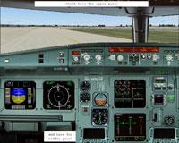 Screenshot of Airbus A320-200 cockpit panel.