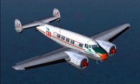 Screenshot of TAP Lockheed Electra L-10A in flight.