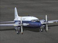 Screenshot of TAR Airline Vickers Viking 1B on the ground.