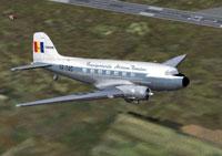 Screenshot of TAROM Lisunov Li-2 in flight.
