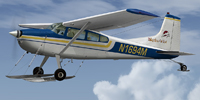 Screenshot of TAT Cessna C185F Skywagon on skis.