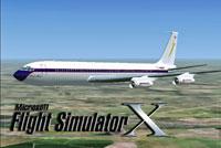 Splash Screen showing jetliner in flight.