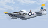 Screenshot of grey TF-51H in flight.