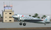 Screenshot of THK Douglas DC-3 on the ground.