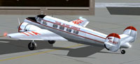 Screenshot of TIA Lockheed L10A Electra on the ground.