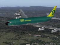 Screenshot of TMA Boeing 707 in flight.