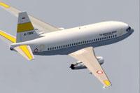 Screenshot of TNI Boeing 737-200 in flight.